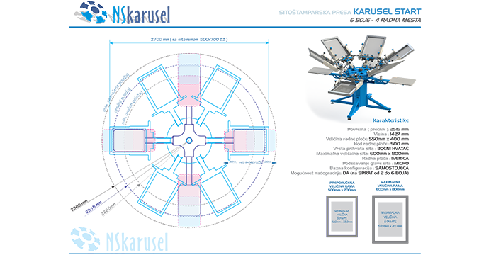 Sito stamparska oprema - NS karusel
